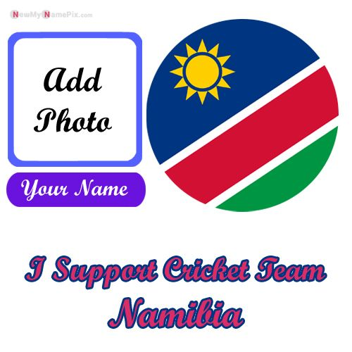 I Support Namibia Cricket Team Love Profile With Name And Photo Frame