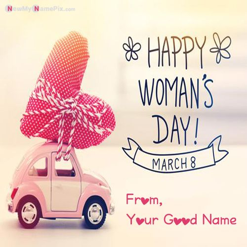 Best 8 March International Women's Day Photo With Name