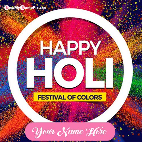 Happy Holi Status Images With Name Wishes Cards