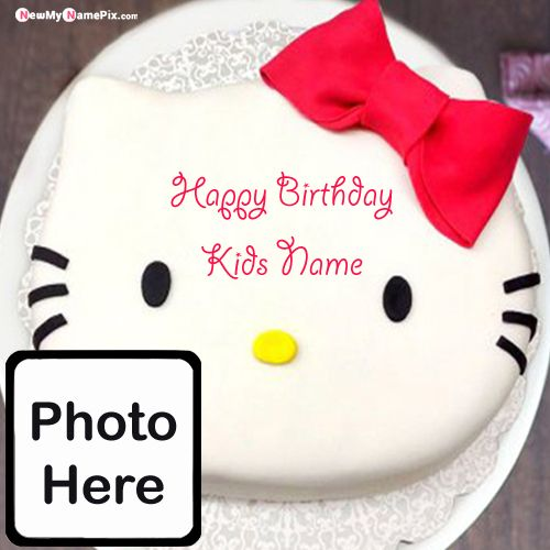 Happy birthday wishes cake for kids photo with name create images