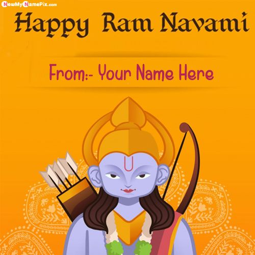 Write Name On Ram Navami Greeting Card Pictures