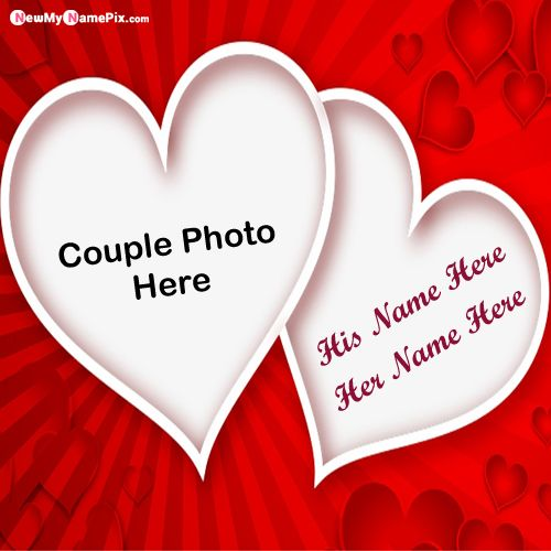 Love Heart Photo Frame Profile With Couple Name Images