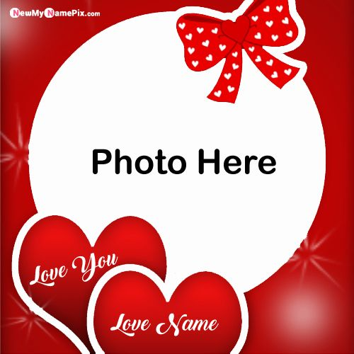Beautiful Design Photo Frame Love Name Profile Pictures