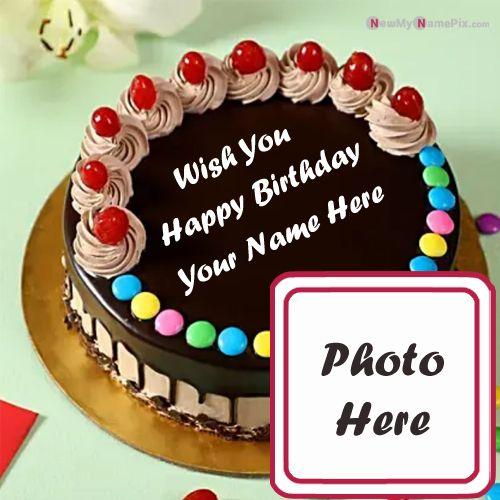 Awesome Happy Birthday Cake My Name With Photo Wishes Funny Birthday Cards Online Alyptdamsfinfo