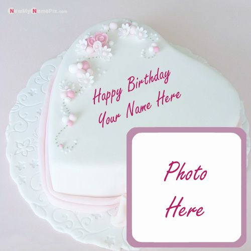 Beautiful birthday design cake with my name photo frame free download