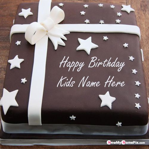 Star birthday cake for kids name wishes profile pictures send