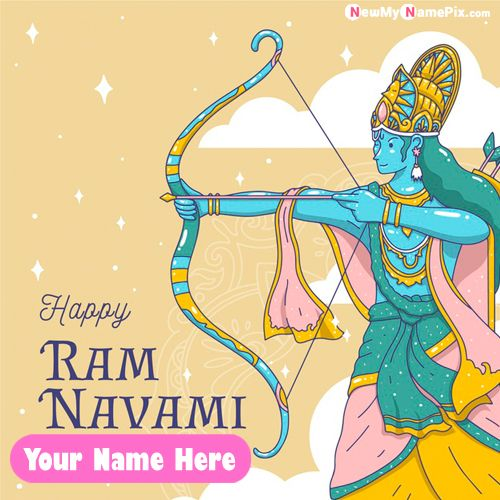 Personalized Name Wishing Best Ram Navami Greeting