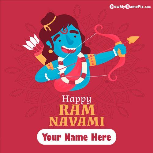 Online Beautiful Greeting Message Ram Navami Wallpapers