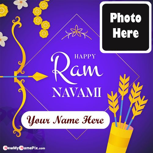 Print Your Name Photo On Ram Navami Picture Send