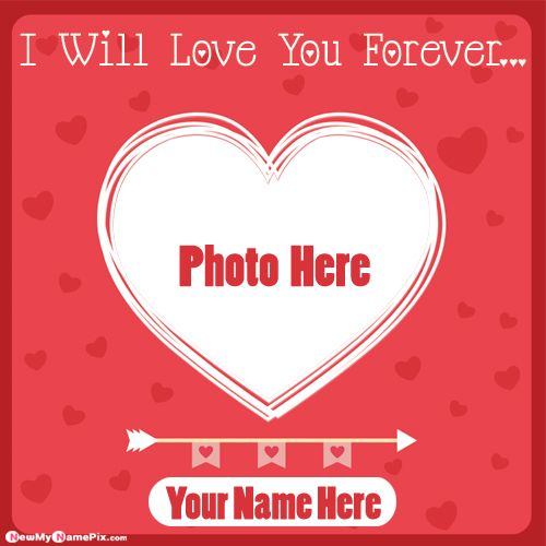 Love You Forever Couple Photo Frame Profile Image With Name