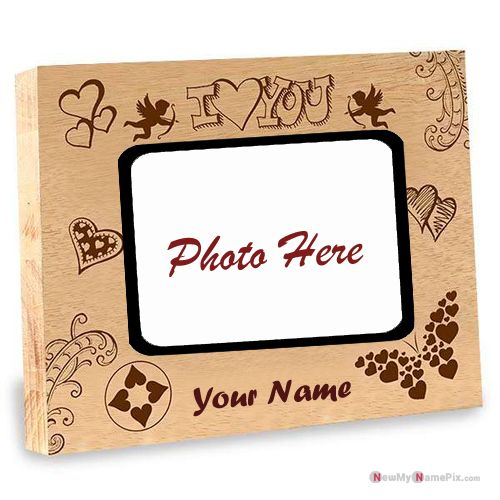 Couple Photo Add Beautiful Profile Design Heart Frame Images