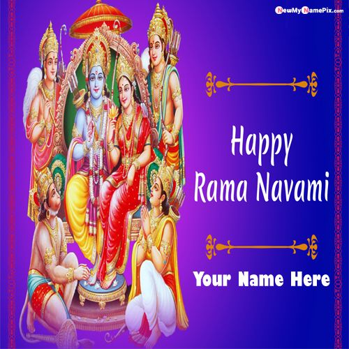 Write Name On Happy Ram Navami Wishes Pictures