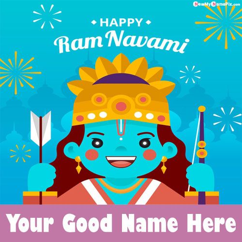 Create Card Happy Ram Navami Wishes Images With Name