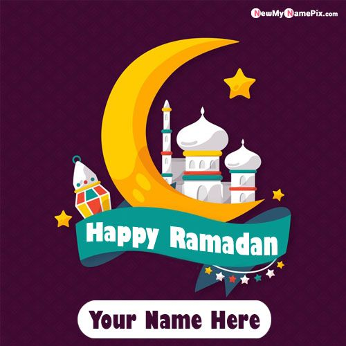 Happy Ramadan Greeting Image With Name Wishes