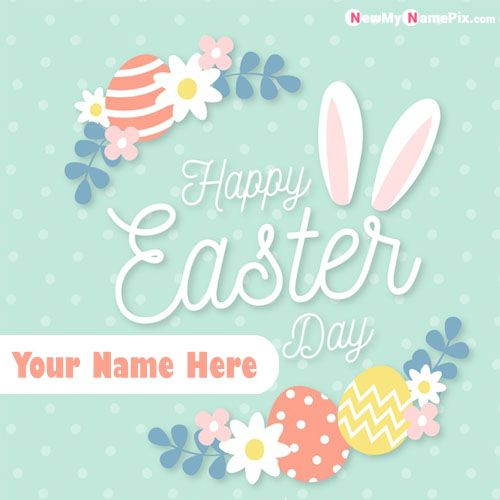 Happy Easter Name Wishes Best Status Card Send Online