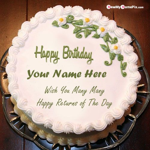 Birthday cake whatsapp status send special name wishes images