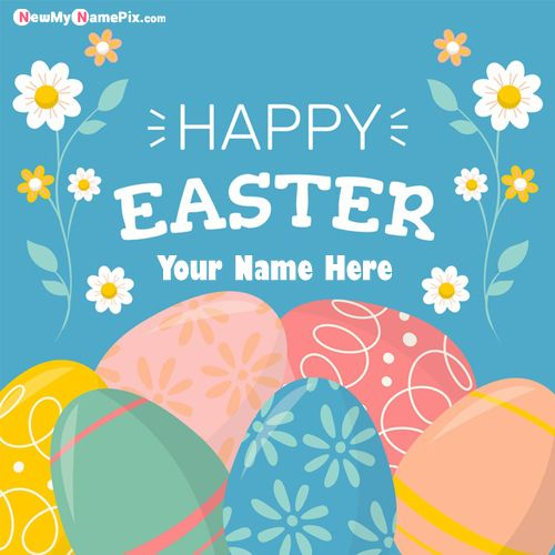 Happy Easter Day Photo With Name Wishes