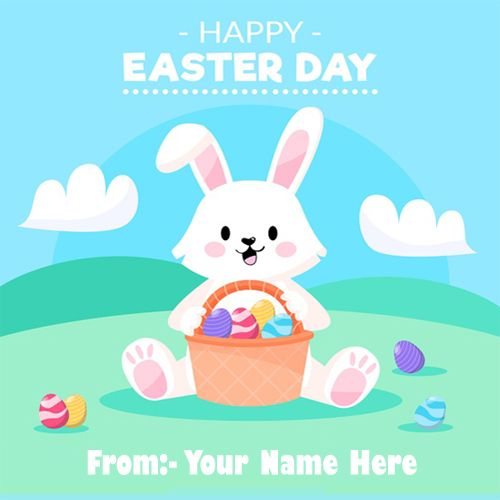 Make Your Name Happy Easter Day Wishes Profile Images