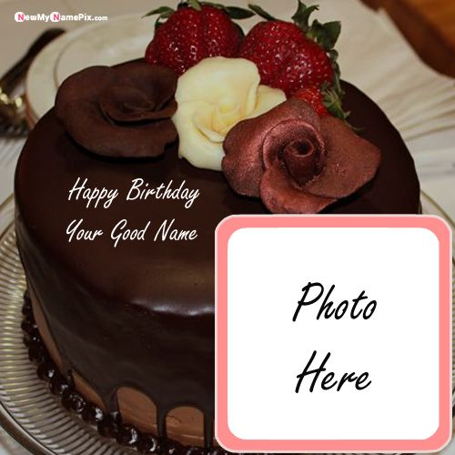 Marvelous Birthday Chocolate Cake Image With Name And Photo Funny Birthday Cards Online Aeocydamsfinfo