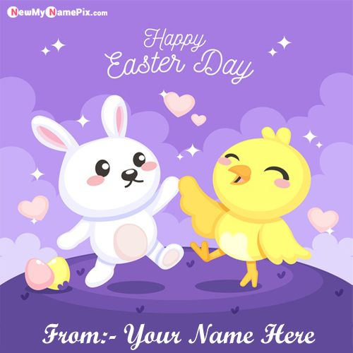 Happy Easter Day Wishes Images With Name Greeting Card