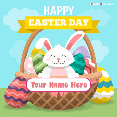 Best Easter Day Wishes Pictures With Name Cards