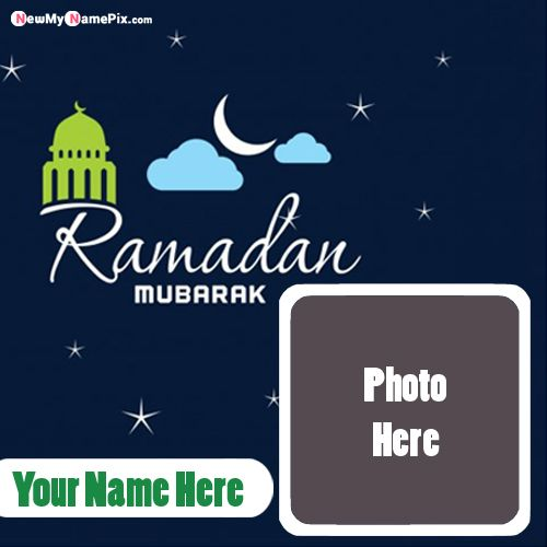 Name With Photo Special Ramadan Wishes Greeting Card Create