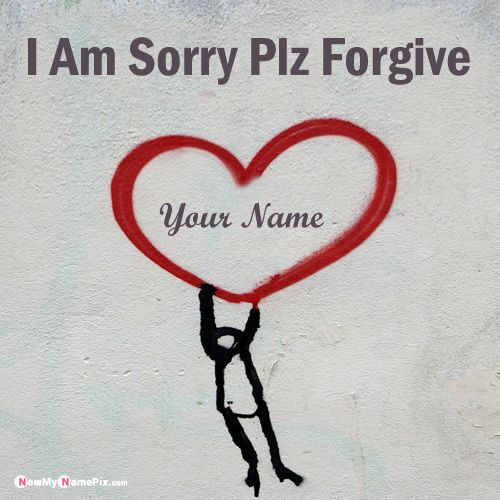 Sorry Card With Love Name Pictures Create Online