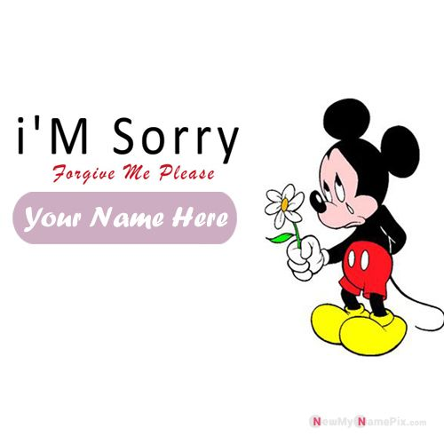I' Am Sorry Please Forgive Me Images With Name Card Create