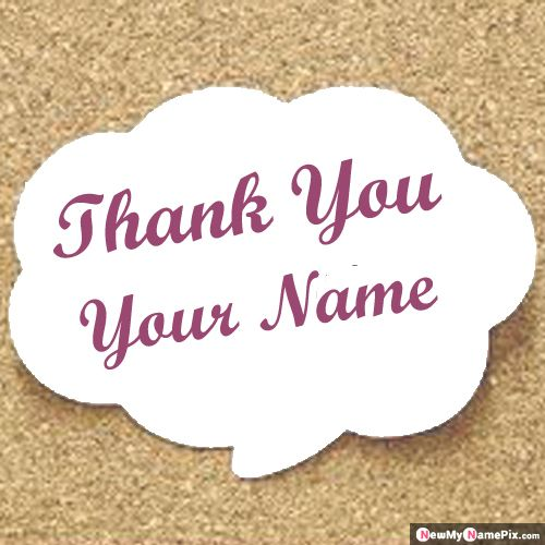 Thank You Card Send Image With Name Create