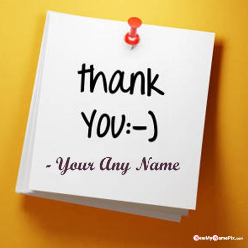 Write Name On Thank You Pictures Download Free