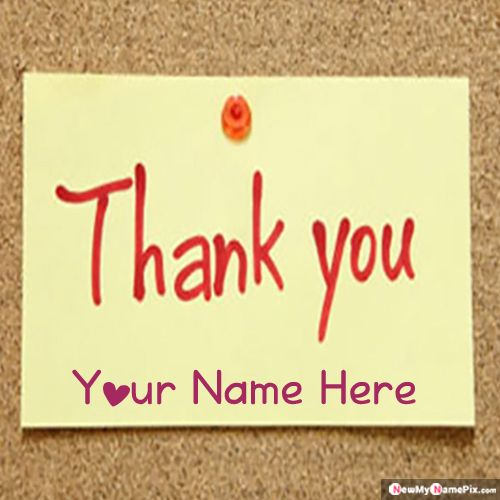 Thank You Images With Name Card Create Online Free
