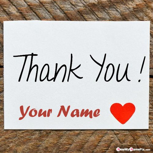 Name Card Create Thank You Love Images Download