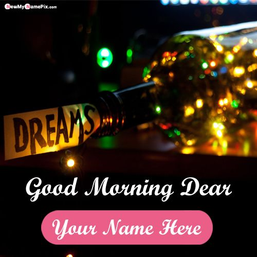 Write name on unique good night wishes pictures edit customized free