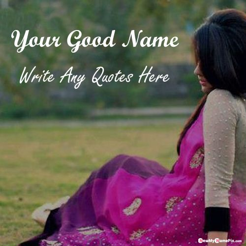 Beautiful Girl Whatsapp Profile Images With Name And Quotes Message