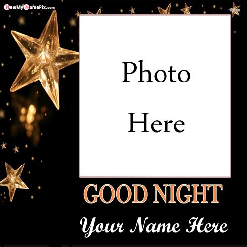 Beautiful photo frame good night wishes image with special name write