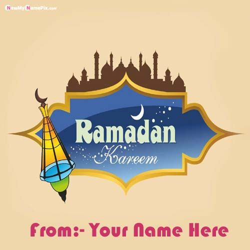 Happy Ramadan Mubarak Wishes Images With Name Pic