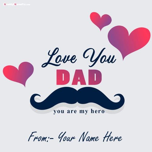 Write Name On Happy Fathers Day Greetings Card Images Edit
