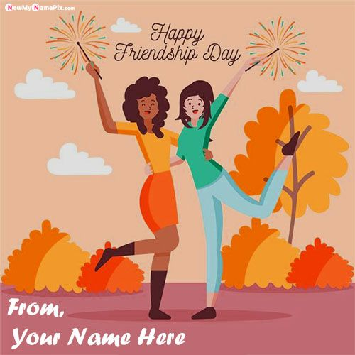 Happy friendship day wishes for girl name greeting card images