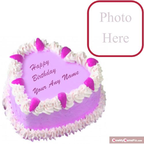 Beautiful birthday cake with name photo frame wishes images download customized