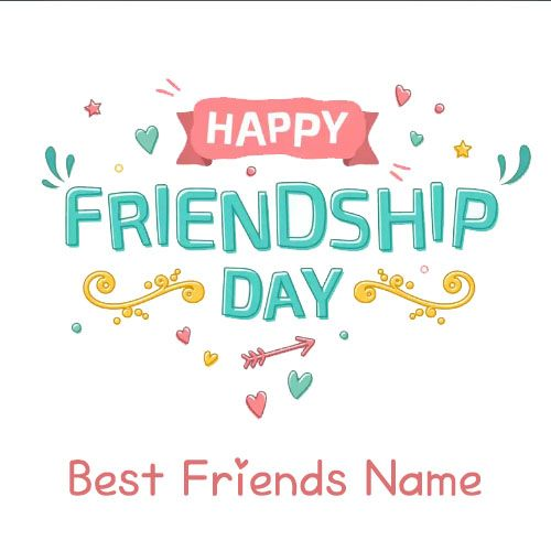 Make your name write happy friendship day beautiful images download free