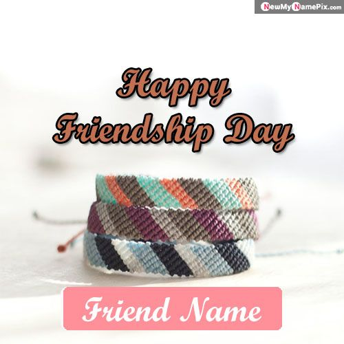 Stylish friendship belt with name wishes friend images send