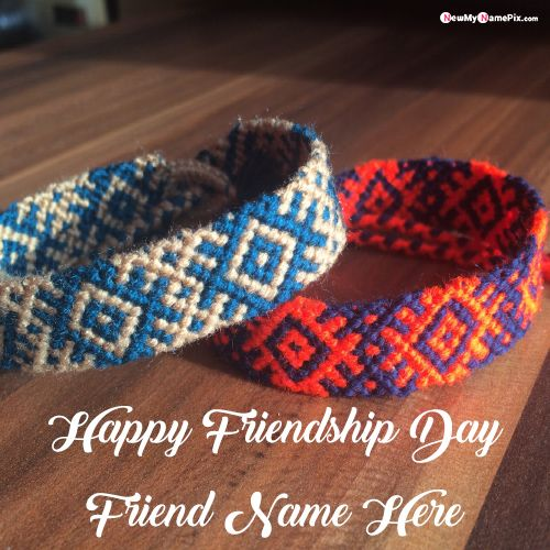 Friendship day wishes Love you my Best friend name wishes pic