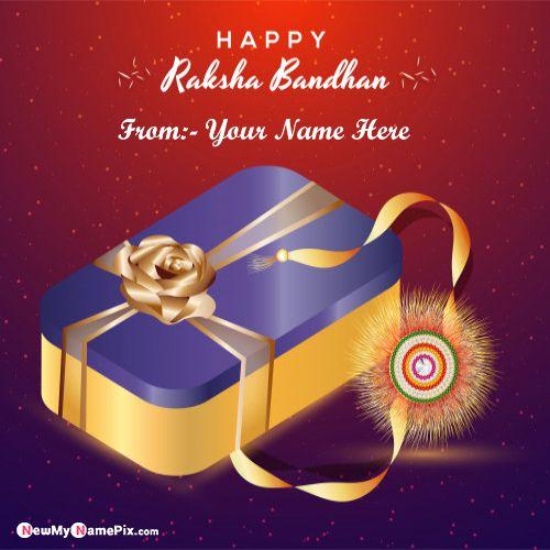 Write my name on raksha bandhan greeting card pictures