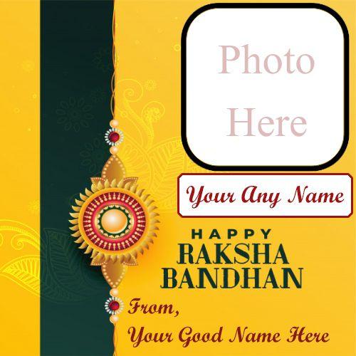Online create raksha bandhan photo with name greeting card