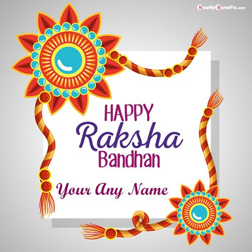 Make your name writing photo maker festival raksha bandhan wishes