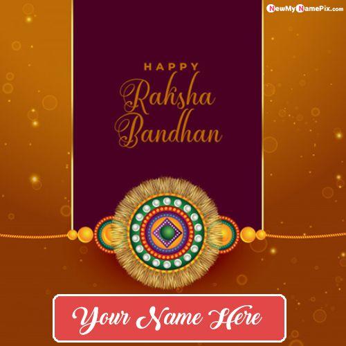 2020 best new custom name write raksha bandhan wishes pictures