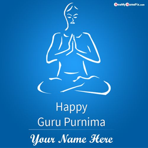2020 Happy guru purnima name writing status whatsapp send image