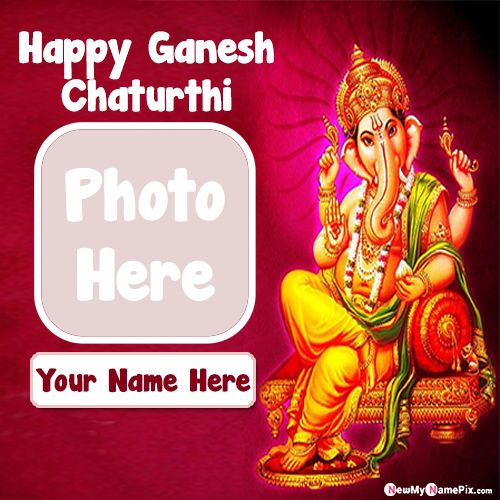 2020 Best photo frame happy ganesh chaturthi wishes images with name