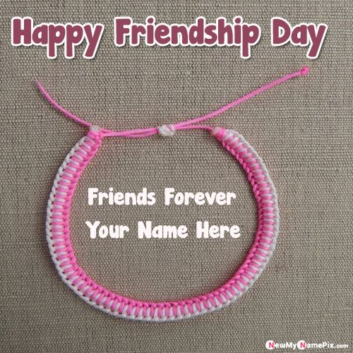 Create online name writing friendship day belt pictures
