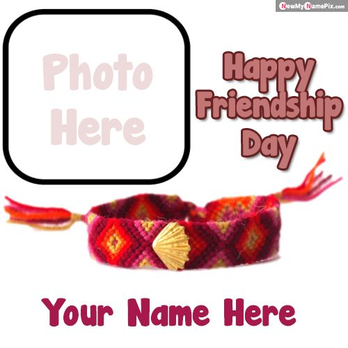 Friendship day wishes name with photo frame create profile